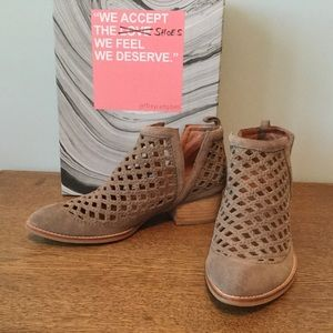 Jeffrey Campbell Taggart Laser Cut Suede Booties